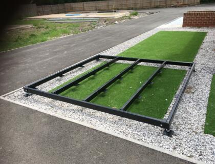 Adjustable Steel Chassis (The adjustable frame is perfect if you have an existing hard standing area, or an old concrete pad. It is easy to assemble and can be put together by one person, therefore saving time and money on preparing the groundwork on an existing site).