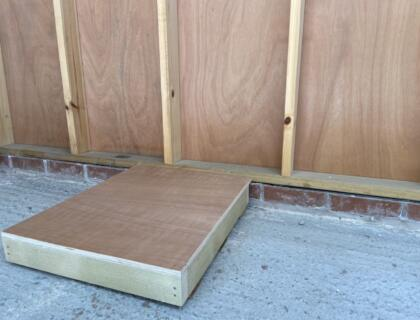 70mm Celotex insulation to Floor - with 15mm plywood & 75mm tanalised joists